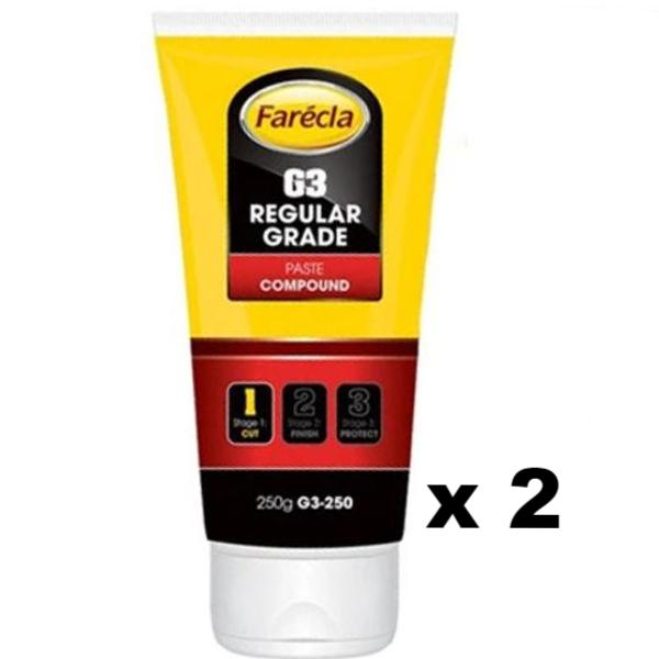 Farecla G3 250g Cutting Compound Paste Buffing Detailing Car Auto Polishing x 2