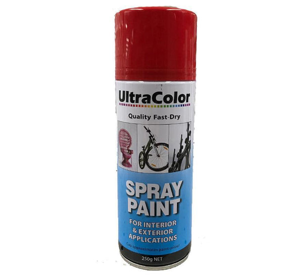 Spray Paint Fast Drying Interior Exterior Horizontal Vertical 250g Bright Red