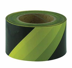 Maxisafe Yellow Black Barricade Tape 100 Metres x 75mm Width Safety Marking