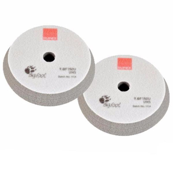 Rupes Bigfoot 150mm Grey UHS Hook & Loop Polishing Pad - 2 Pack  9.BF150U