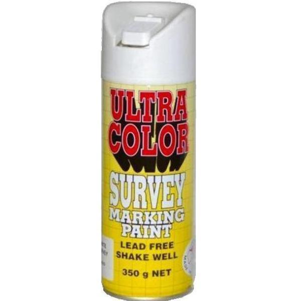 Ultracolor Survey Marketing Paint Spot Marker Aerosol Can 350g White