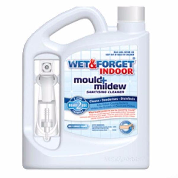 Wet & Forget Indoor Mould Mildew Sanitising Deodorising Bleach Free Cleaner 2L