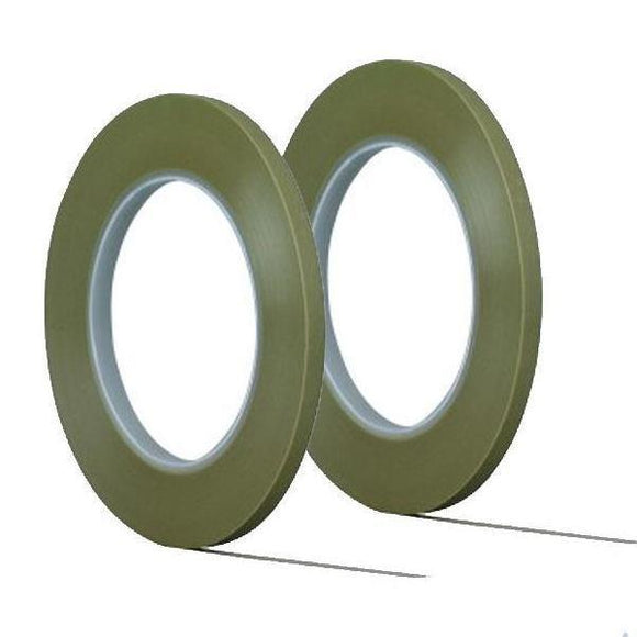 3M Scotch Fine Line Tape 218 Green 1/8 inch Width 3.2 mm 06300 - 2 Pack