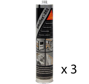 Sikaflex 252 Assembly Adhesive White 300ml Elastic Bonding Structural Joint x 3