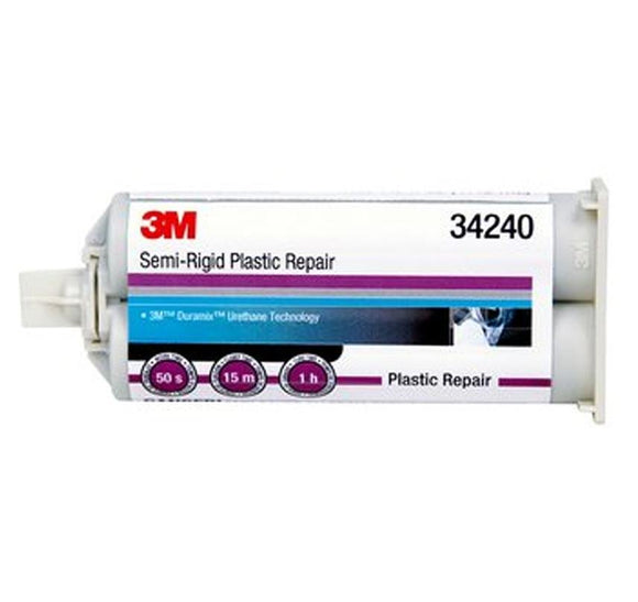 3M Semi-Rigid Plastic Repair 47.3ml 34240 Plastic Metal Fibreglass Panel Bond