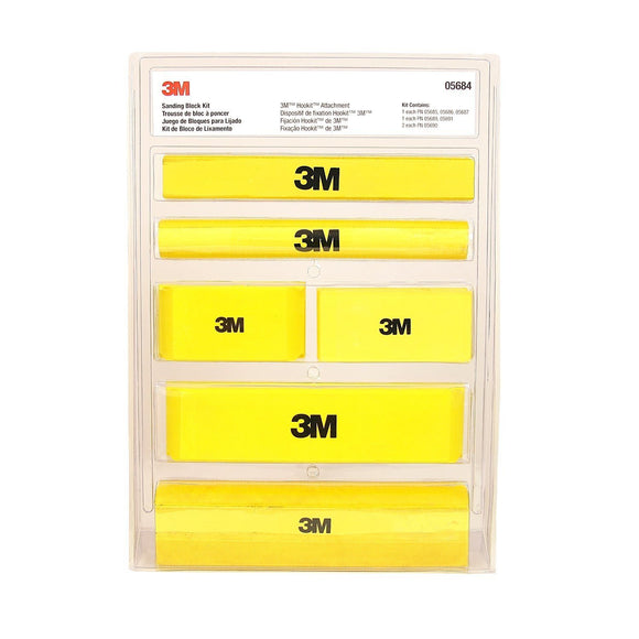 3M 05684 Automotive Hookit Sanding Block Kit 3M Trade Marine 7 Piece Set