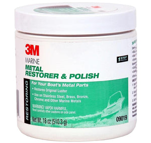 3M Marine Boat Vessel Metal Restorer Polish 09019 510.3g Stainless Steel Brass