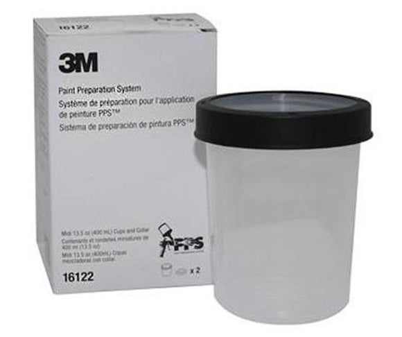 3M 16122 PPS Midi Cups & Collars 2Pack 400mL 13.5oz Spray Paint Automotive Car