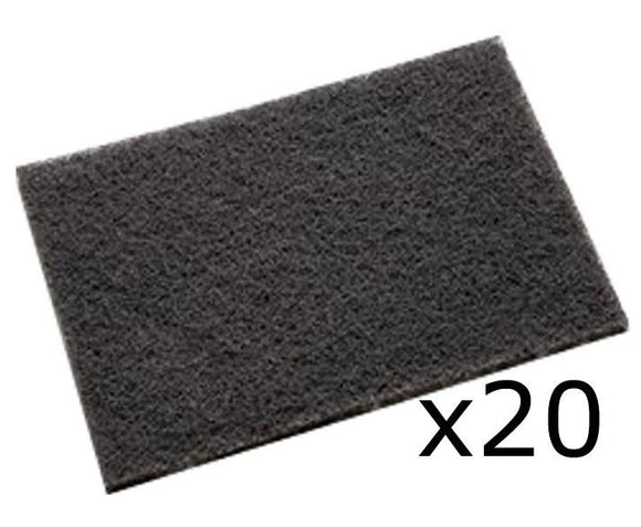 3M 7446 Scotch-Brite Grey Blending Hand Pad 20 Pack 152mm x 228mm