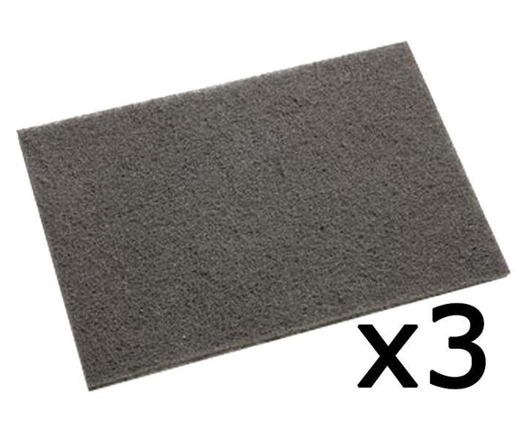 3M 7446 Scotch-Brite Grey Blending Hand Pad 3 Pack 152mm x 228mm