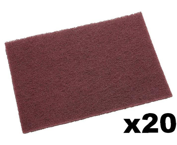 3M 7447 Scotch Brite General Purpose Maroon Hand Pad 20 Pack 152mm x 228mm