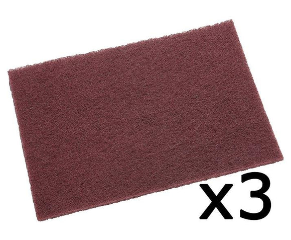 3M 7447 Scotch Brite General Purpose Maroon Hand Pad x 3 152mm x 228mm