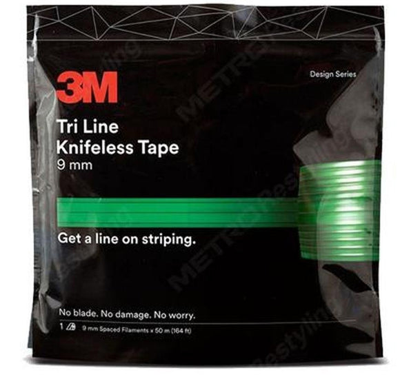 3M Tri Line Knifeless Tape KTS-TL9 Green 9mm x 50m Spaced Filaments