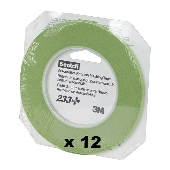3M Fine Line Tape 233 Masking Scotch Automotive Refinish 6mm X 55m 12 Rolls 26344