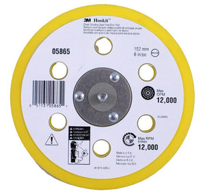 3M Hook-it Dustless Backing Pad 6 inch 05865 Back up 150mm Sanding Discs