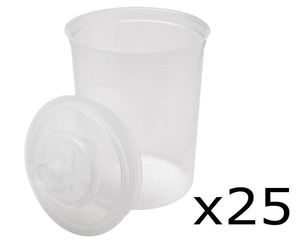 3M 16024 PPS 25 Large Lids & Liners 200 Micron Plus 10 Plugs
