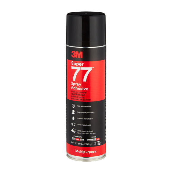 3M Super 77 Multi-Purpose Classic Spray Adhesive 487ml Panel Bonding