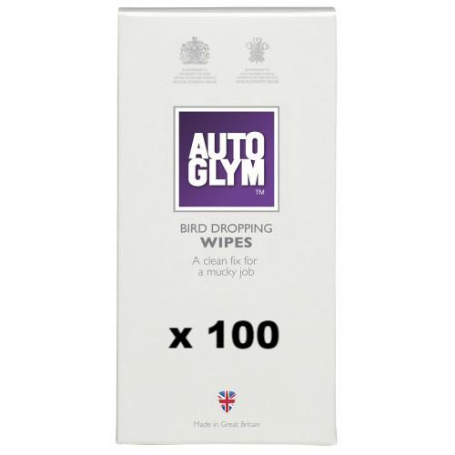 Autoglym Bird Dropping Wipes Removal Clean Car Care 100 Satchets