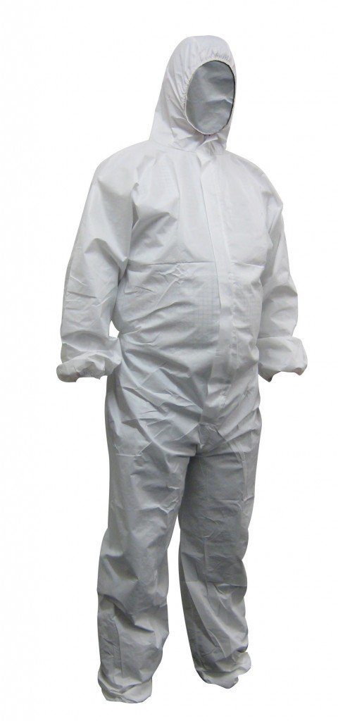 Maxisafe Disposable Spray Paint Suit Protective Overall Coverall White