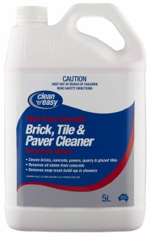 Chemtech Brick Tile & Paver Cleaner 5lt TR50 Removes Rust Stains