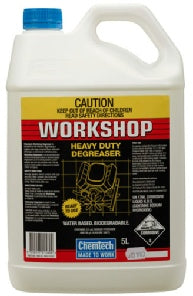 Chemtech Workshop Degreaser 5lt water based, biodegradable, heavy duty