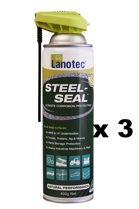 Lanotec Lanolin Steel-Seal Corrosion Protection 4WD Trailers Ag Marine 400g x 3