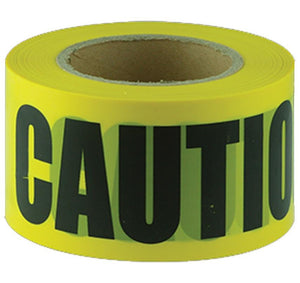 Maxisafe Black Yellow CAUTION Tape 100m x 75mm Zoning Safety Marking Barricade