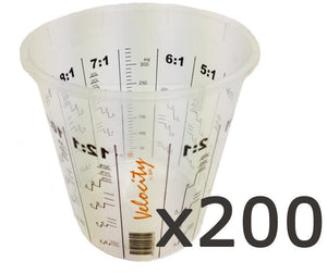 Calibrated Graduated Paint Mixing Cups 350ml x 200
