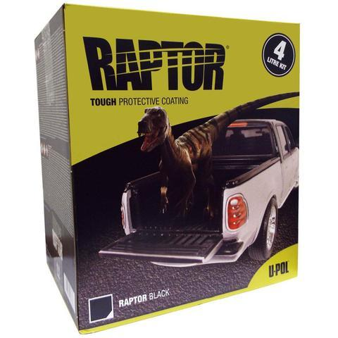 U-Pol Raptor Black Tough Protective Coating UV Resistant Tub/Bed Liner Kit 4L
