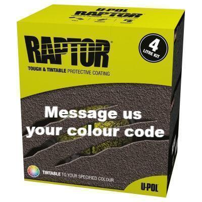 U-Pol Raptor Tintable (Choose Your Colour) Protective Coating Tub/Bed Liner Kit 4L