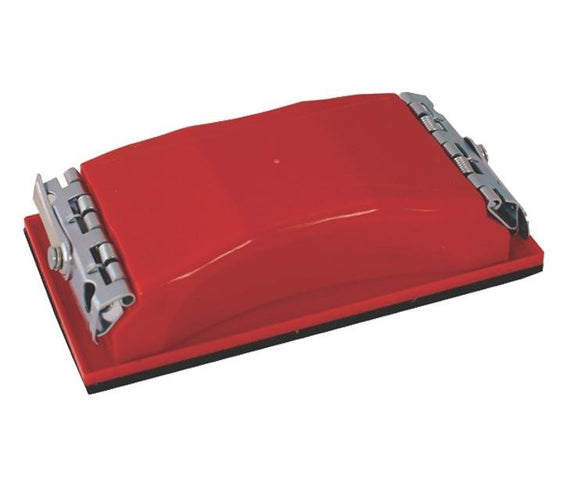 Hand Held Pad Red Plastic Rubbing Sanding Block With Clip 163mm x 86mm