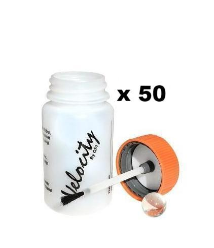 Empty Touch Up Bottles 50ml + Brush Attached To Lid x 50