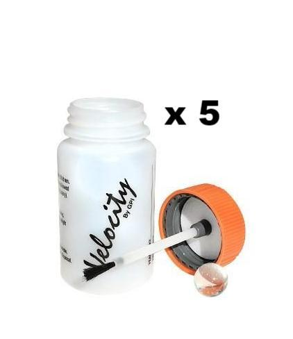Empty Touch Up Bottles 50ml + Brush Attached To Lid x 5