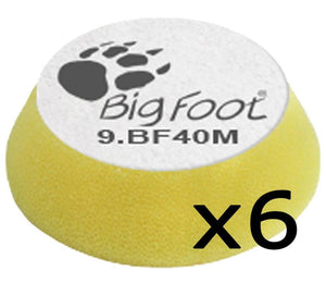 Rupes Bigfoot Nano iBrid Yellow 30/40mm Polishing Pad 9.BF40M 6 Pack