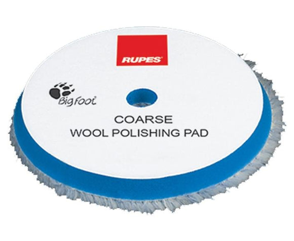 Rupes Bigfoot 180mm Coarse Blue Wool Polishing Pad 9.BW180H