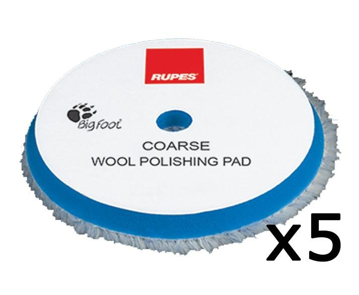 Rupes Bigfoot 150mm Coarse Blue Wool Polishing Pad 9.BW150H Box of 5