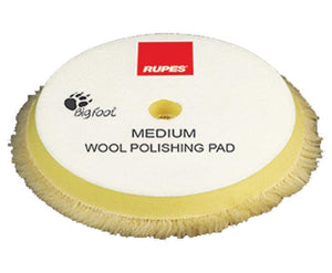 Rupes Bigfoot 180mm NEW Wool Medium Yellow Polishing Pad 9.BW180M