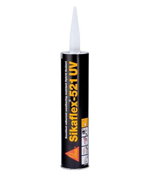 Sika Sikaflex 521 UV Assembly Adhesive White 300ml Elastic Bonding Structural