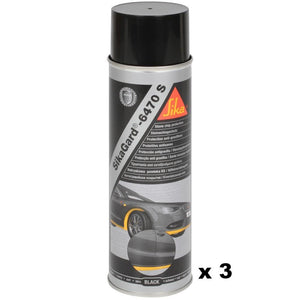 SikaGard 6470S Stone Chip Protection Black 500ml Car Automotive Care Body Shop x 3