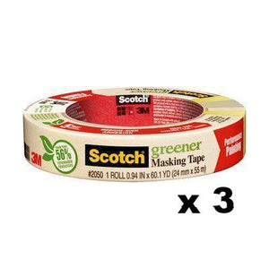 3M Scotch Greener Medium-High Adhesion Masking Tape 24mm x 55m x 3