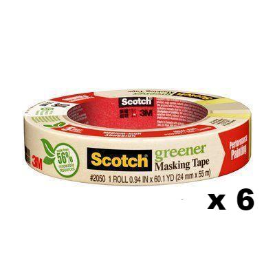 3M Scotch Greener Adhesion Masking Tape 2050 24mm x 55m x 6