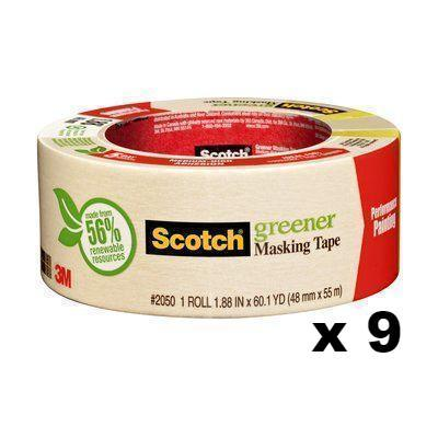 3M Scotch Green Medium-High Adhesion Masking Tape 2050 48mm x 55m x 9