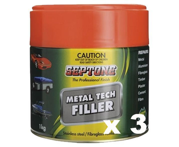 Septone Metal Tech Filler 1kg x 3