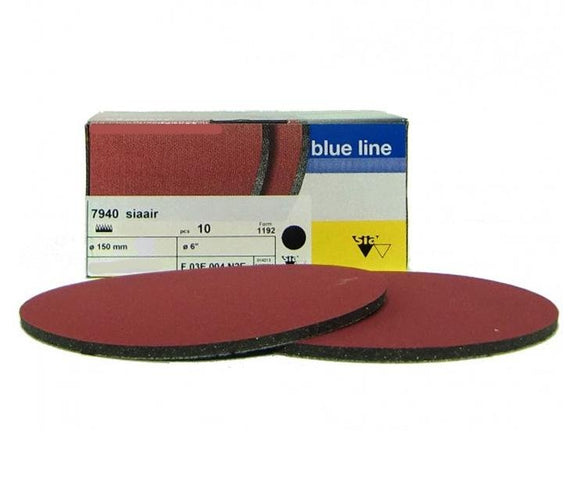 Sia Siaair 7940 Velvet Sanding Disc 2000 Grit Box of 10 150mm