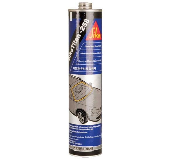 Sika SikaTitan 258 Black Primerless Windscreen Adhesive Direct Glazing 310ml