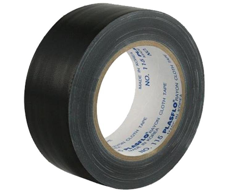 Premium Grade Black Cloth Tape 48mm x 25m Render Duct Blast Gaffa Race