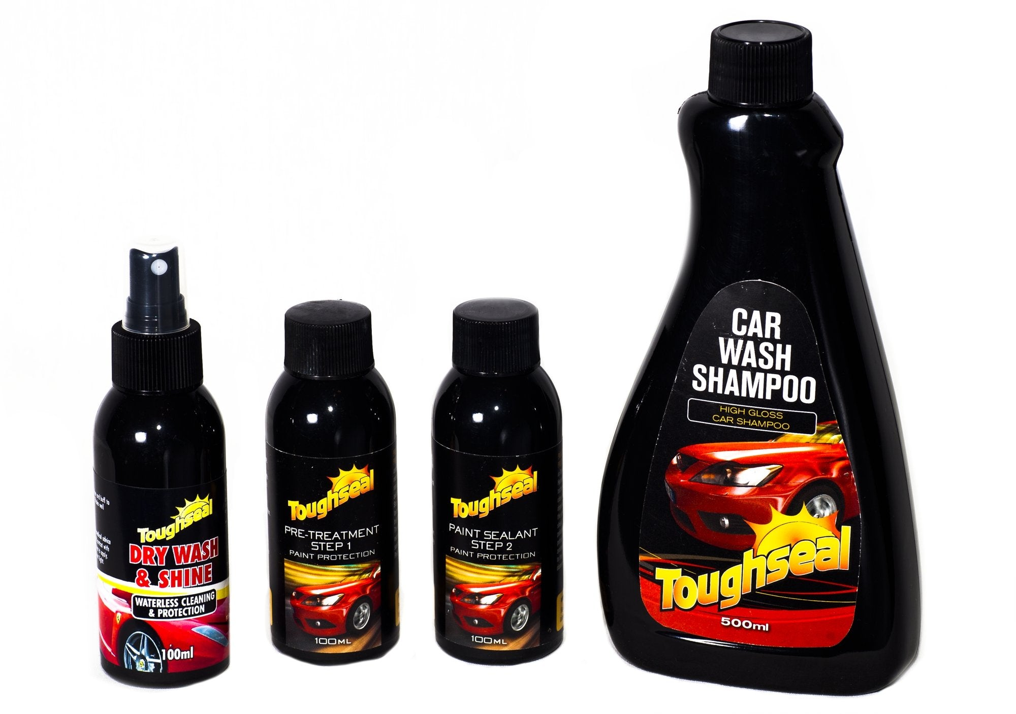 Toughseal Exterior Car Care Paint Protection Dry Shine Wash Shampoo Kit