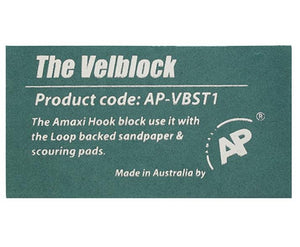 AP The Velblock Hand Sanding Block With Hook & Loop Backing