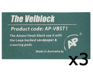 AP The Velblock Hand Sanding Block With Hook & Loop Backing 3 Pack