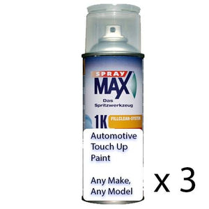 Automotive Auto Touch Up Spray Paint Can 1k Acrylic Top Coat Car Truck Bike x 3